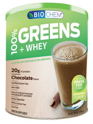 Biochem Sports, Greens and Whey Protein Powder,  Chocolate - 23.6 oz