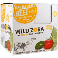Wild Zora Foods , Meat & Veggie Bar, Parmesan Beef with Tomato, Basil & Kale, 10 Packs, 1.0 oz (28 g) Each