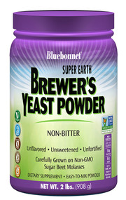 Bluebonnet Nutrition Super Earth Brewer's Yeast Powder Unflavored - 2 lb
