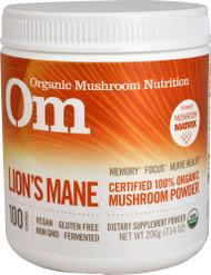 Organic Mushroom Nutrition, Lions Mane, Mushroom Powder, 7.14 oz (200 g)