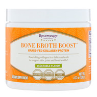 ReserveAge Nutrition, Bone Broth Boost, Grass-Fed Collagen Protein, Vegetable Flavor, 4.23 oz (120 g)