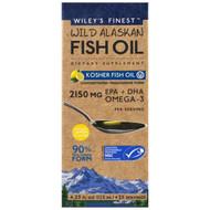 Wileys Finest Wild Alaskan Fish Oil Peak Omega-3 Liquid Natural Lemon -- 4.23 fl oz