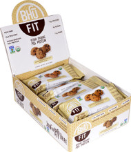 BHU Fit Vegan Organic Pea Protein Bar Superfood Chocolate Chip Cookie Dough - 12 Bars