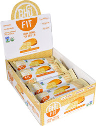 BHU Fit Vegan Organic Pea Protein Bar Peanut Butter plus White Chocolate - 12 Bars