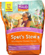 Halo Purely For Pets, Spots Stew Toy and Small Breed Dogs,  Wholesome Chicken - 10 lbs