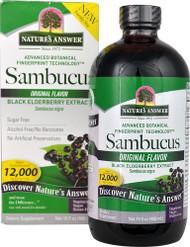 Nature's Answer Sambucus Black Elderberry Extract Original - 12000 mg - 16 fl oz