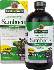 Natures Answer, Sambucus, Black Elderberry, 12,000 mg, 16 fl oz (480 ml)