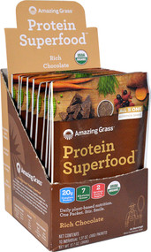 Amazing Grass Protein Superfood Rich Chocolate - 10 Packets