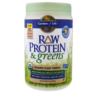 Garden of Life, Raw Protein & Greens, Organic Plant Formula, Real Raw Vanilla, 19.3 oz (548 g)