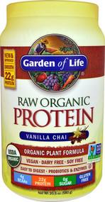 Garden of Life RAW Organic Protein Plant Formula Vanilla Chai - 20.5 oz