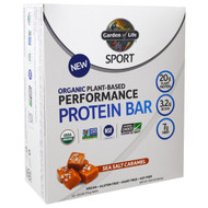 Garden of Life, Sport, Organic Plant-Based Performance Protein Bar, Sea Salt Caramel, 12 Bars, 2.5 oz (70 g) Each