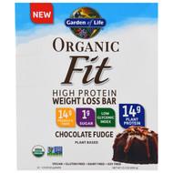 Garden of Life, Organic Fit, High Protein Weight Loss Bar, Chocolate Fudge, 12 Bars, 1.9 oz (55 g) Each