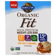 Garden of Life, Organic Fit High Protein Weight Loss Bar, Sea Salt Caramel, 12 Bars, 1.9 oz (55 g) Each