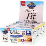 Garden of Life, Organic Fit, High Protein Weight Loss Bar, Smores, 12 Bars, 1.9 oz (55 g) Each