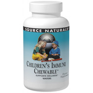 Source Naturals, Wellness Childrens Immune Chewable, Berry Flavor, 120 Wafers