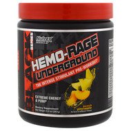 Nutrex Research Labs, Black Series, Hemo-Rage Underground, Peach Pineapple, 9.4 oz (267 g)