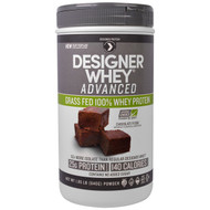 Designer Protein, Designer Whey Advanced, Grass Fed 100% Whey Protein, Chocolate Fudge, 1.85 lb (840 g)