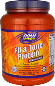 Now Foods, Fit & Tone Protein, Mocha Flavor, 1.8 lbs (816 g)