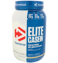 Dymatize Nutrition, Elite Casein, Smooth Vanilla, 2 lbs (907 g)