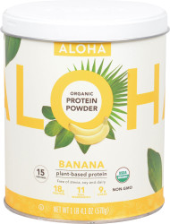 Aloha Organic Protein Powder Banana - 15 Servings