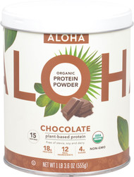 Aloha Organic Protein Powder Chocolate -- 15 Servings