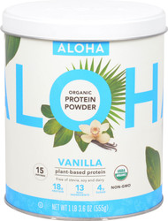 Aloha Organic Protein Powder Vanilla - 15 Servings