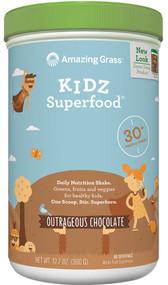Amazing Grass Kidz SuperFood Drink Powder Outrageous Chocolate - 12.7 oz