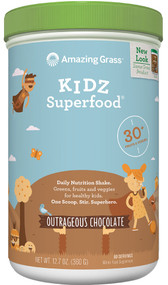Amazing Grass Kidz SuperFood Drink Powder Outrageous Chocolate -- 60 Servings