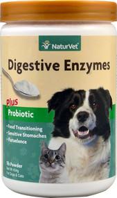 NaturVet Digestive Enzymes plus Probiotic for Cats & Dogs - 1 lb