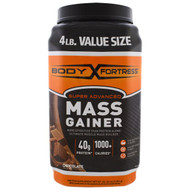 Body Fortress, Super Advanced Mass Gainer, Chocolate, 4 lbs (1,814 g)
