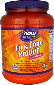 Now Foods, Sports, Fit & Tone Protein, Berry Flavor, 1.8 lbs (816 g)