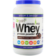 Orgain Clean Whey Grass Fed Whey Protein Powder Creamy Chocolate Fudge -- 1.82 lbs