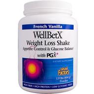 Natural Factors, WellBetX, Weight Loss Shake, French Vanilla, 1.9 lbs (854 g)