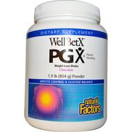 Natural Factors, WellBetX PGX, Weight Loss Shake, Chocolate, Powder, 1.9 lbs (854 g)