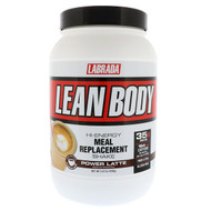 Labrada Nutrition, Lean Body, Hi-Energy Meal Replacement Shake, Power Latte, 2.47 lbs (1120 g)