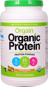 Orgain Organic Protein Plant Based Powder Vanilla Almond - 2.03 lbs