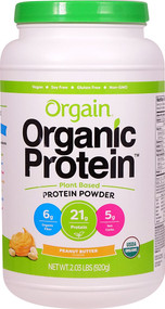 Orgain Organic Protein Plant Based Powder Peanut Butter - 2.03 lbs