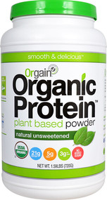 Orgain Organic Protein Plant Based Powder Natural Unsweetened - 1.59 lbs