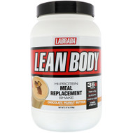 Labrada Nutrition, Lean Body, Hi-Protein Meal Replacement Shake, Chocolate Peanut Butter, 2.47 lbs (1120 g)