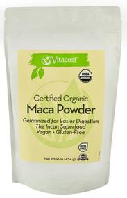 Vitaco, Certified Organic Gelatinized Maca Powder - Gluten Free - 16 oz (454 g)