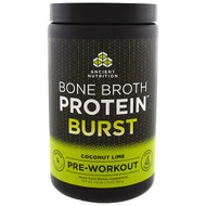 Dr. Axe / Ancient Nutrition, Bone Broth Protein Burst, Pre-Workout, Coconut Lime, 11.6 oz (330 g)