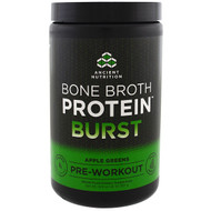 Dr. Axe / Ancient Nutrition, Bone Broth Protein Burst, Pre-Workout, Apple Greens, 12.9 oz (367 g)
