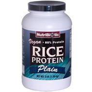 NutriBiotic Rice Protein Powder Raw Vegan Plain - 3 lbs