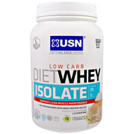 USN, Cutting Edge Series, Diet Whey Isolate, Low Carb, Vanilla, 1.54 lbs (700 g)