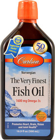 Carlson Labs, Norwegian, The Very Finest Fish Oil, Natural Orange Flavor, 16.9 fl oz (500 ml)