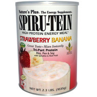 Nature's Plus, Spiru-Tein, High Protein Energy Meal, Strawberry Banana, 2.3 lbs (1035 g)