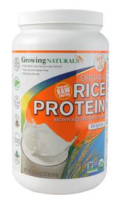 Growing Naturals, Organic Rice Protein, Original, 32.4 oz (918 g)
