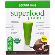 Ground Based Nutrition, Organic Superfood Protein, Rich Chocolate, 10 Packets, 1.06 oz (30 g) Each