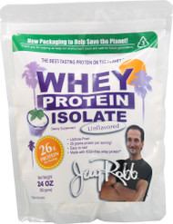 Jay Robb Whey Protein Isolate Unflavored -- 24 oz