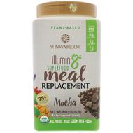 Sunwarrior, Illumin8, Plant-Based Organic Superfood Meal Replacement, Mocha, 1.76 lb (800 g)